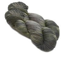 Sock Yarn 4 Ply Australian Merino Wool Knitting Yarn Hand Dyed Olive Grey 12721| Sock Yarn | Sally Ridgway | Shop Wool, Felt and Fibre Online