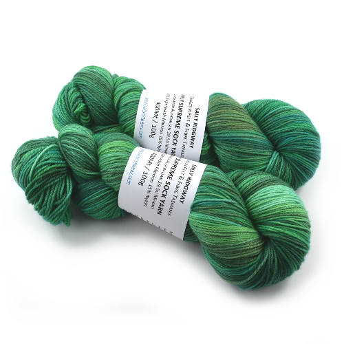 Sock Yarn 4 Ply Australian Merino Wool Knitting Yarn Hand Dyed Green Mix 12731| Sock Yarn | Sally Ridgway | Shop Wool, Felt and Fibre Online