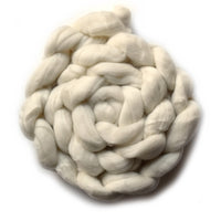 Tasmanian Merino Wool Top Superwash / TEC / 18.5 micron Undyed Creamy White 400 grams| Undyed Wool Roving Top | Sally Ridgway | Shop Wool, Felt and Fibre Online