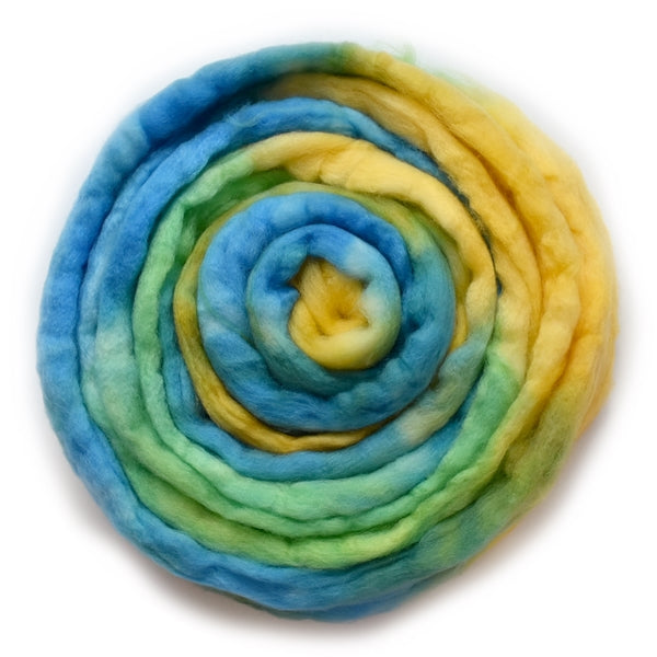 Superwash Tasmanian Merino Wool Top (Roving) Meadow 12938| Superwash Merino Wool Tops | Sally Ridgway | Shop Wool, Felt and Fibre Online