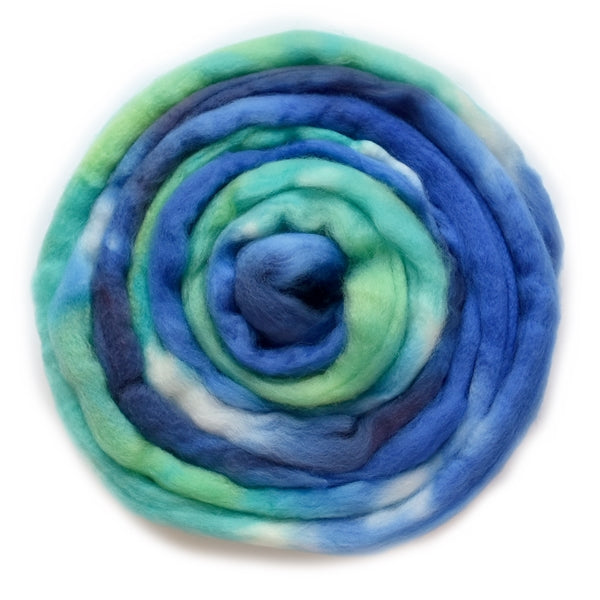 Superwash Tasmanian Merino Wool Top (Roving) Ocean 12936| Superwash Merino Wool Tops | Sally Ridgway | Shop Wool, Felt and Fibre Online