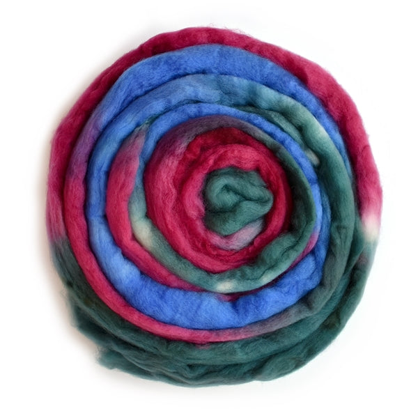 Superwash Tasmanian Merino Wool Top (Roving) Jewell Kiss 12934| Superwash Merino Wool Tops | Sally Ridgway | Shop Wool, Felt and Fibre Online