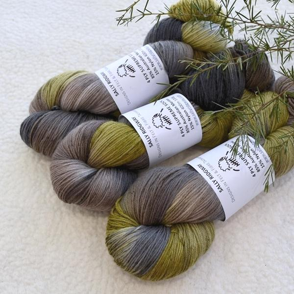 Supreme Sock Yarn 4 Ply Australian Merino Wool in Light Forest 13026| Sock Yarn | Sally Ridgway | Shop Wool, Felt and Fibre Online