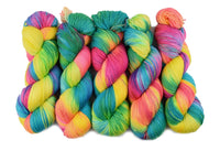 4 ply Supreme Sock Yarn Hand Dyed in Candy Cane 13117| Sock Yarn | Sally Ridgway | Shop Wool, Felt and Fibre Online