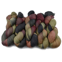 4 ply Supreme Sock Yarn Hand Dyed in Chestnut 13114| Sock Yarn | Sally Ridgway | Shop Wool, Felt and Fibre Online