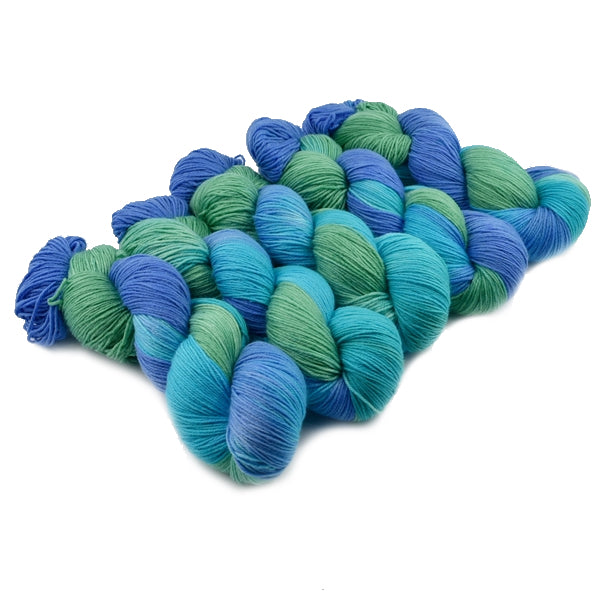 4 ply Supreme Sock Yarn Hand Dyed in Blue Opals 13119| Sock Yarn | Sally Ridgway | Shop Wool, Felt and Fibre Online