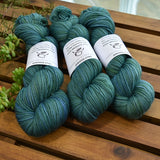 4 ply Supreme Sock Yarn Hand Dyed Blue Gum 13238| Sock Yarn | Sally Ridgway | Shop Wool, Felt and Fibre Online