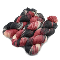 4 ply Supreme Sock Yarn hand dyed Red Hot Coals 12943| Sock Yarn | Sally Ridgway | Shop Wool, Felt and Fibre Online