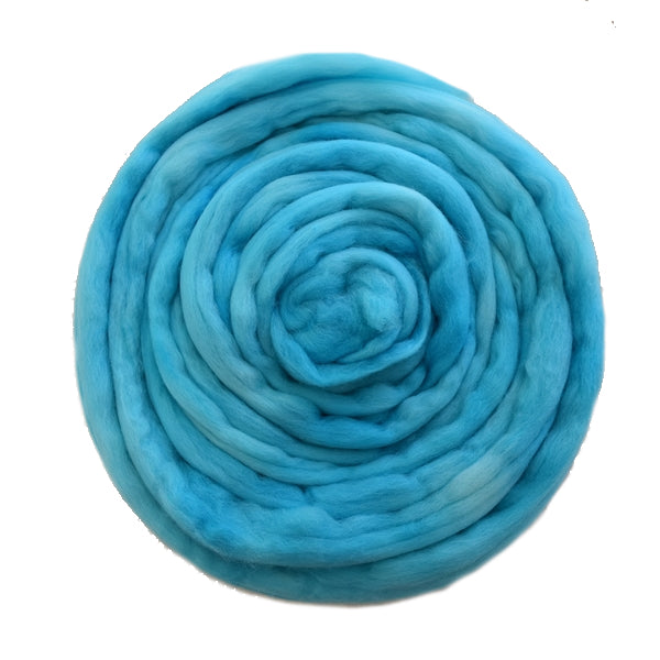 Tasmanian Merino Wool Combed Top (Roving) Tropical Opal Blue 12669| Merino Wool Tops | Sally Ridgway | Shop Wool, Felt and Fibre Online