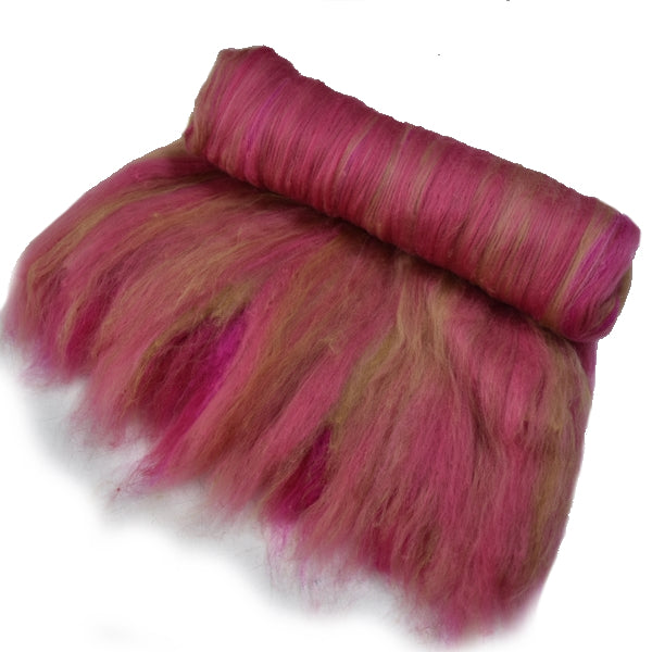 Tasmanian Merino Wool Carded Batts Hand Dyed Vintage Rose 13262| Merino Wool Batts | Sally Ridgway | Shop Wool, Felt and Fibre Online