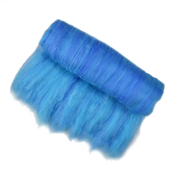 Tasmanian Merino Wool Carded Batts Hand Dyed Blue Horizon 13109| Merino Wool Batts | Sally Ridgway | Shop Wool, Felt and Fibre Online
