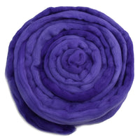 Purple Tasmanian Merino Wool Combed Top Hand Dyed 12976| Merino Wool Tops | Sally Ridgway | Shop Wool, Felt and Fibre Online