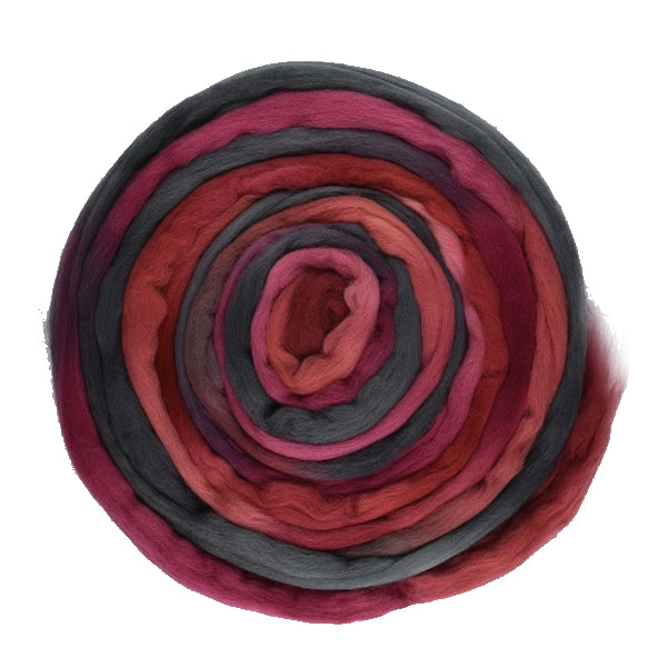 Tasmanian Merino Wool Combed Top Velvet Rose 13030| Merino Wool Tops | Sally Ridgway | Shop Wool, Felt and Fibre Online