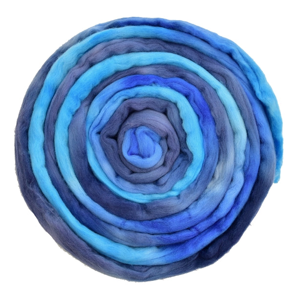 Tasmanian Merino Wool Combed Top (Roving) Blue Spark| Merino wool tops | Sally Ridgway | Shop Wool, Felt and Fibre Online