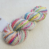 White Chunky Hand Spun Art Yarn - Confetti 13319| Hand Spun Yarn | Sally Ridgway | Shop Wool, Felt and Fibre Online