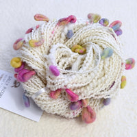 White Chunky Hand Spun Art Yarn - Popcorn 13320| Hand Spun Yarn | Sally Ridgway | Shop Wool, Felt and Fibre Online