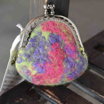 Wool Felt Kiss Lock Small Coin Purses 12151| Coin Purse | Sally Ridgway | Shop Wool, Felt and Fibre Online