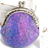 Wool Felted Coin Purse Handmade Kiss Lock Purse Multi 12544| Coin Purse | Sally Ridgway | Shop Wool, Felt and Fibre Online