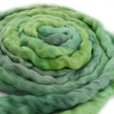 Wool Roving English Leicester Combed Tops Hand Dyed Green 12123| English Leicester Wool Tops | Sally Ridgway | Shop Wool, Felt and Fibre Online