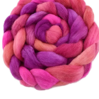 Wool Roving Sliver Top Corriedale Hand Dyed Hot Pink Orange Mix 12410| Corriedale Wool | Sally Ridgway | Shop Wool, Felt and Fibre Online