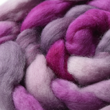 Wool Roving Top Corriedale Hand Dyed Hot Raspberry Mix 12407| Corriedale Wool | Sally Ridgway | Shop Wool, Felt and Fibre Online