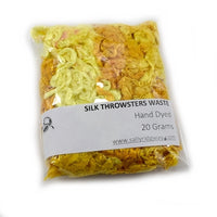 Mulberry Silk Throwster Waste Hand Dyed Lemon Yellow 12865| Silk Throwster | Sally Ridgway | Shop Wool, Felt and Fibre Online