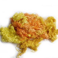 Yellow Mulberry Silk Throwster Waste Fibre Yellow Orange Mix 20 grams 12372| Silk Throwster | Sally Ridgway | Shop Wool, Felt and Fibre Online