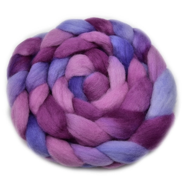 Corriedale Wool Top Roving Sliver Hand Dyed Crimson Purple 100 Grams 12764| Corriedale Wool | Sally Ridgway | Shop Wool, Felt and Fibre Online