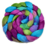 Corriedale Wool Top Roving Hand Dyed in Rainbow Colours 100 Grams 12768| Corriedale Wool | Sally Ridgway | Shop Wool, Felt and Fibre Online