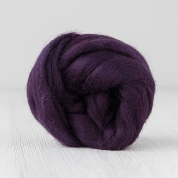 DHG Merino Wool Combed Top Roving Blackberry| DHG Wool Tops | Sally Ridgway | Shop Wool, Felt and Fibre Online