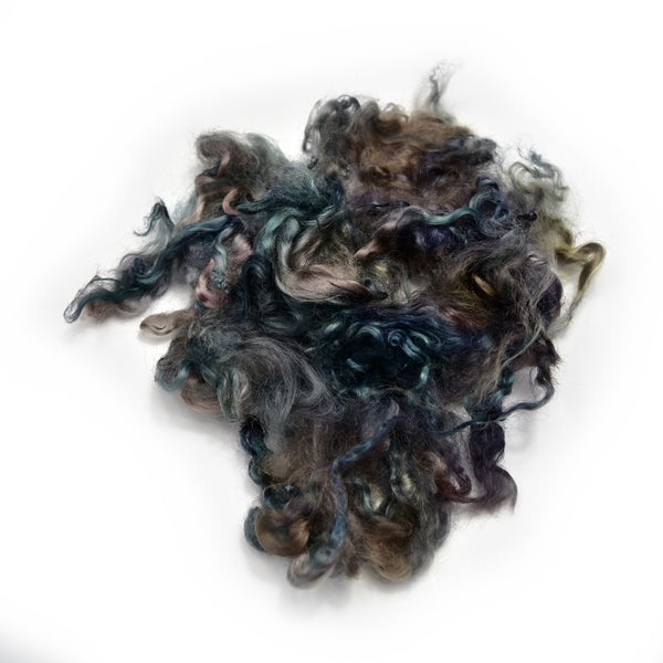 Tasmanian English Leicester Lamb Locks Hand Dyed Rare Earth 20 grams 12755| English Leicester Wool Tops | Sally Ridgway | Shop Wool, Felt and Fibre Online
