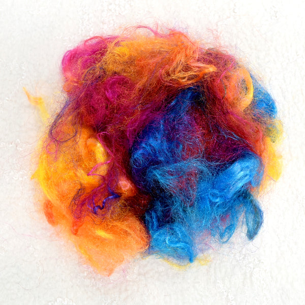 Firestar Fibre Hand Dyed Trilobal Nylon Rainbow 12617| Firestar Fibre | Sally Ridgway | Shop Wool, Felt and Fibre Online