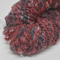 Hand Spun Australian Merino Wool Chunky Art Yarn in Soft Red and Grey 12728| Hand Spun Yarn | Sally Ridgway | Shop Wool, Felt and Fibre Online