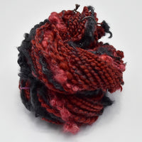 Chunky Hand Spun Merino Wool Art Yarn in Red and Black 13066| Hand Spun Yarn | Sally Ridgway | Shop Wool, Felt and Fibre Online