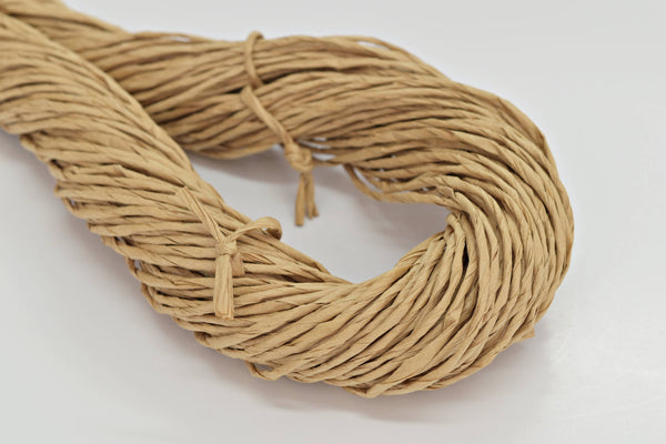 hand spun paper raffia yarn brown paper yarn weaving basket making yarn chunky knitting yarn