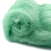 Tasmanian Merino Wool Carded Batts Hand Dyed Aqua Mist 13231| Merino Wool Batts | Sally Ridgway | Shop Wool, Felt and Fibre Online
