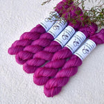 Mini Skeins 4 Ply Supreme Sock Yarn Raspberry Syrup| Mini Skeins | Sally Ridgway | Shop Wool, Felt and Fibre Online