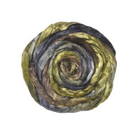 Mulberry Silk Roving Hand Dyed in Forest 13098| Silk Roving/Sliver | Sally Ridgway | Shop Wool, Felt and Fibre Online