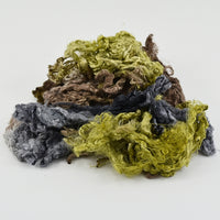 Mulberry Silk Throwster Waste Fibre Woodland 12623| Silk Throwster | Sally Ridgway | Shop Wool, Felt and Fibre Online
