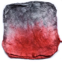 Mulberry Silk Hankies for Spinning and Felting Hand Dyed Red Grey Mix 12276| Silk Hankies | Sally Ridgway | Shop Wool, Felt and Fibre Online