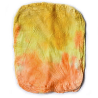 Silk Hankies for Felting and Spinning Hand Dyed Yellow Orange Mix 12281| Silk Hankies | Sally Ridgway | Shop Wool, Felt and Fibre Online