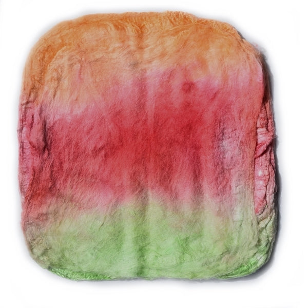 Mulberry Silk Hankies Hand Dyed Autumn Blend 12831| Silk Hankies | Sally Ridgway | Shop Wool, Felt and Fibre Online