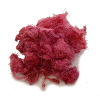 Mulberry Silk Throwster Waste Fibre in Brick Red 13297| Silk Throwster | Sally Ridgway | Shop Wool, Felt and Fibre Online