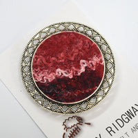 Red Wool Felt and Metal Brooch Pin 13023| Brooch | Sally Ridgway | Shop Wool, Felt and Fibre Online