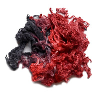 Mulberry Silk Throwster Waste Hand Dyed Black and Red 12633| Silk Throwster | Sally Ridgway | Shop Wool, Felt and Fibre Online