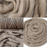 Smokey Brown Merino and Corriedale Blend Combed Wool Top 200 grams| Undyed Wool Roving Top | Sally Ridgway | Shop Wool, Felt and Fibre Online