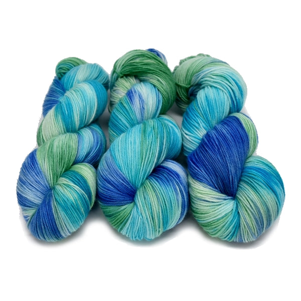 Supreme Sock Yarn 4 Ply Australian Merino Wool Hand Dyed Opal Blue Green 12777| Sock Yarn | Sally Ridgway | Shop Wool, Felt and Fibre Online