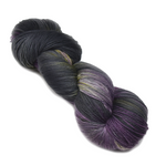 Sock Yarn 4 Ply Australian Merino Wool Knitting Yarn Hand Dyed Dark Amethyst 12780| Sock Yarn | Sally Ridgway | Shop Wool, Felt and Fibre Online