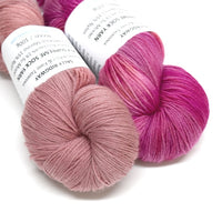 Yarn 4 Ply Australian Merino Wool Knitting Yarn Hand Dyed Soft Coral 12715| Sock Yarn | Sally Ridgway | Shop Wool, Felt and Fibre Online