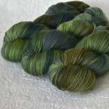 4 ply Supreme Sock Yarn Hand Dyed Evergreen 13168| Sock Yarn | Sally Ridgway | Shop Wool, Felt and Fibre Online